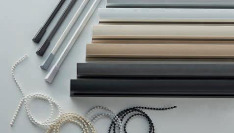Designer colours in verticle blinds